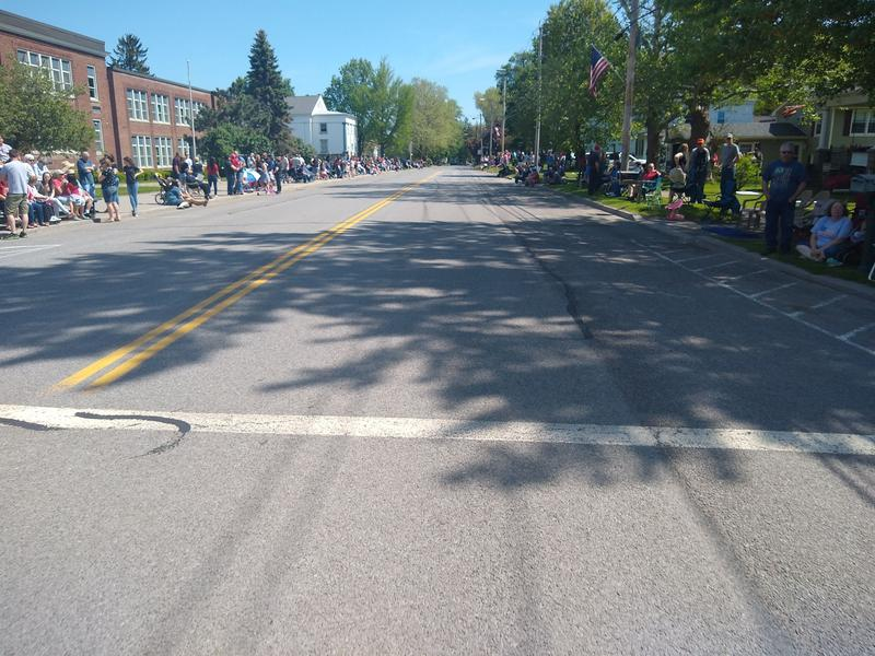 The town of Marion parade cleared the streets awaiting my arrival.